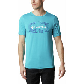 Columbia Terra Vale II T-shirt Homme, clear water roam hex